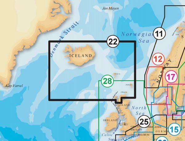 Navionics Platinum Plus IJsland SD formaat